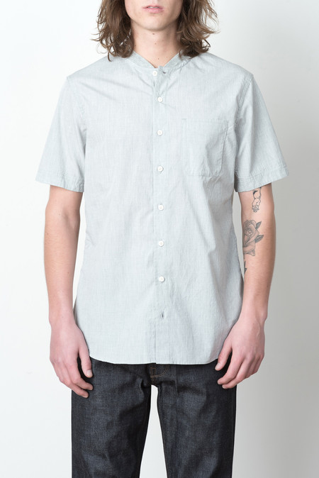 Wings + Horns S/S Woven Service Shirt In Grey