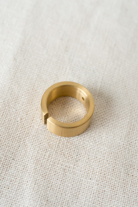 Marmol Radziner Wide Cut Ring In Brass