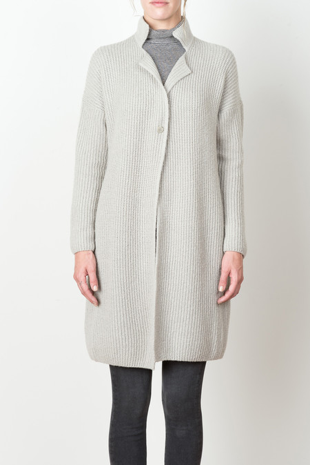 Evam Eva Wool Cashmere Coat In Gray