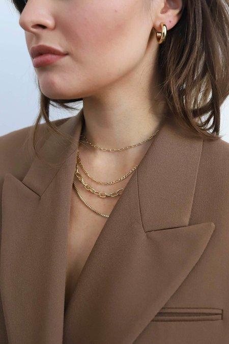 Machete RoundBox Chain Necklace - 14k Gold