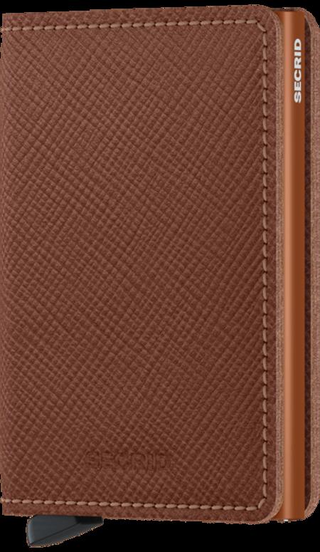 SECRID Slim Wallet - Saffiano Caramel