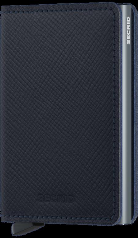SECRID Slim Wallet - Saffiano Navy