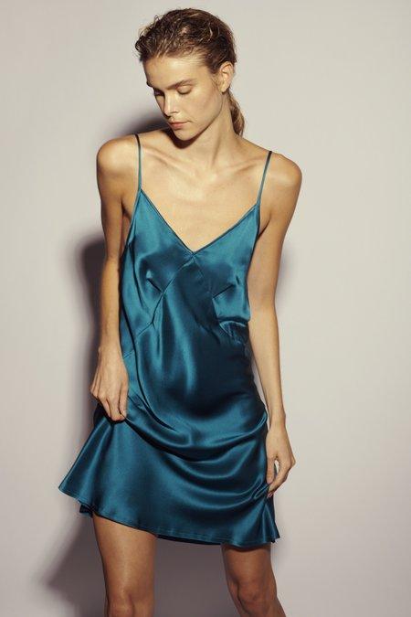 KES Mini Triangle Slip Dress - Teal