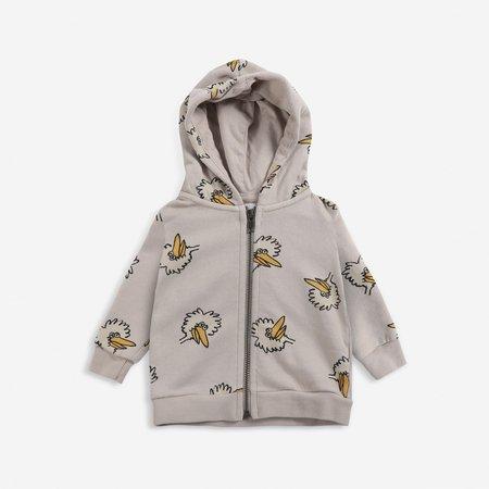 kids unisex Bobo Choses Birdie Baby Zipper Hoodie sweater - grey