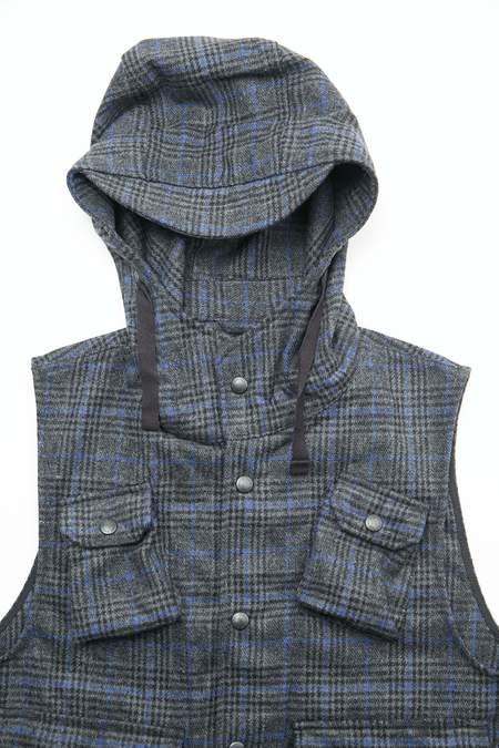 Engineered Garments Field Vest - Dark Grey/Blue