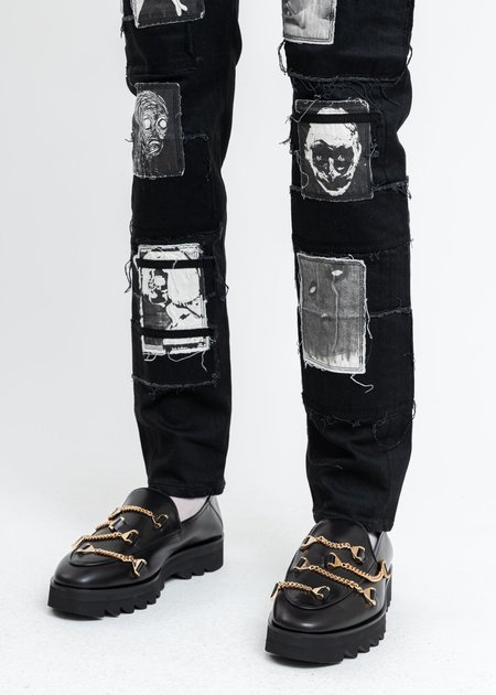 KIDILL × HYUSTO Debbie Leather Sole Loafer - Black