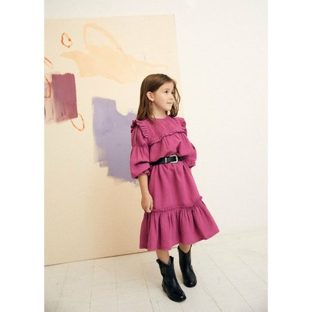 Kids the new society dominique dress - burgandy