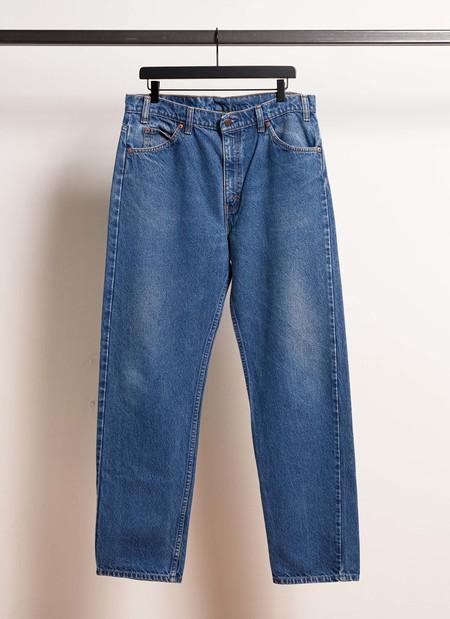 Vintage Levi's Denim 505 Orange Tab Pants - Blue