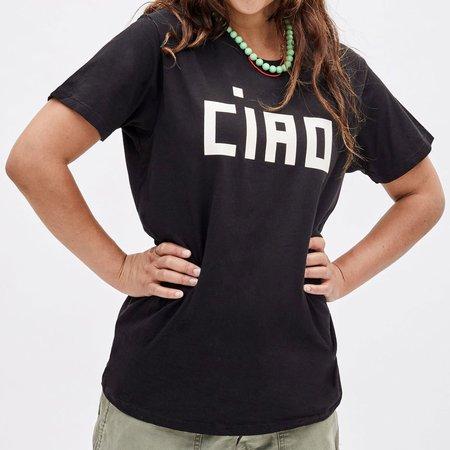 Clare V. Original Fit Ciao Tee - Black