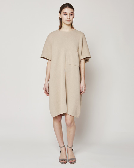 Revisited Matters Milano knit dress in sand