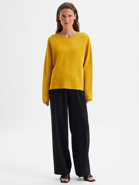 Selected Femme Merle knit Pullover - Arrowood Yellow