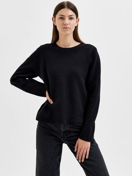 Selected Femme Merle knit Pullover - Black
