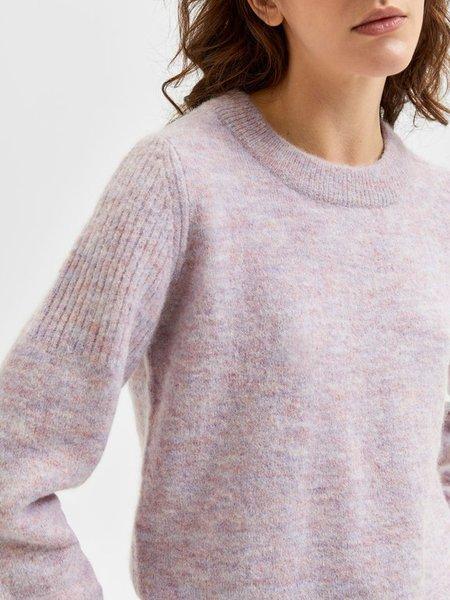 Selected Femme Sia Knit - Chalk Pink Melange