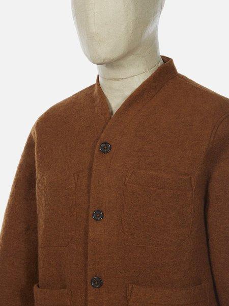 Universal Works Wool Fleece Cardigan - Rust