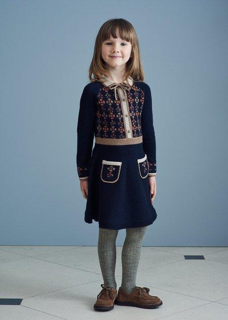 Kids Caramel Elara Dress - Midnight