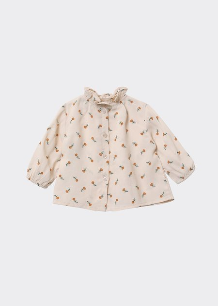 Kids Caramel Miron Baby Blouse - Toffee Ditsy Flower Print