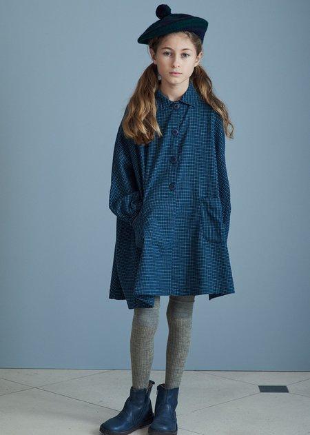 Kids Caramel Venus Dress - Blue Green Check