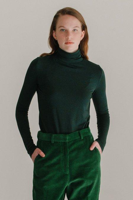 Mijeong Park Roll Neck Jersey Top - Dark Green