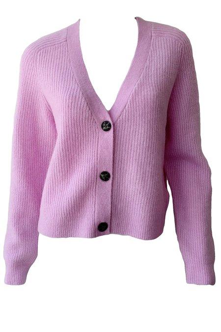 Ganni Soft Wool Knit Cardigan - Pale Lilac