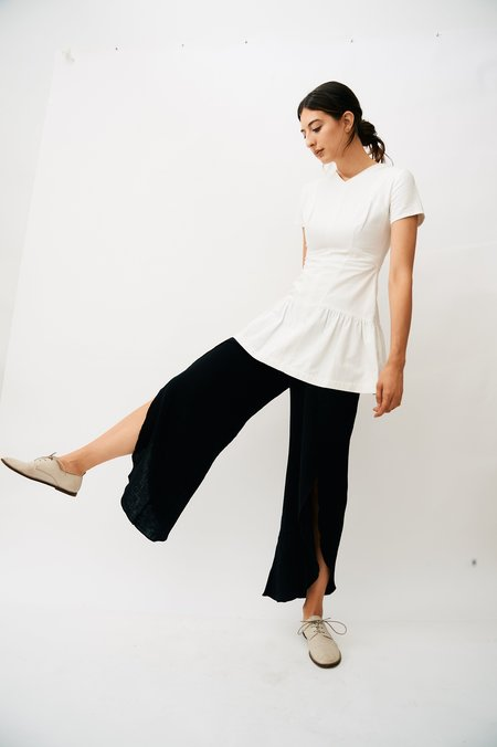 [Pre-loved] Chanel Ruffle Hem Mini Dress - White