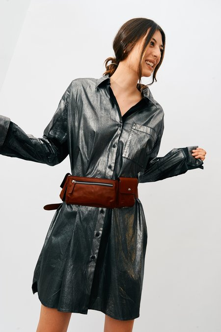 YMC You Must Create Leather Belt Bag - Red