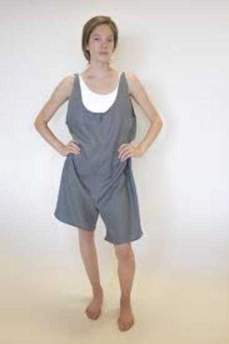 Sunja Link Short Linen Overalls