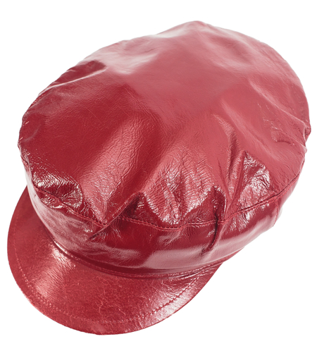 Ann Demeulemeester Burgundy Leather Cap