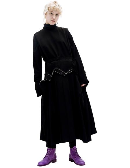 Comme des Garcons Black Wool Dress