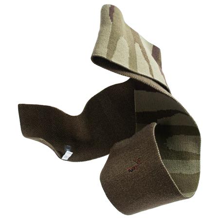 Greg Lauren Paul Shark Long Wool Camo Scarf