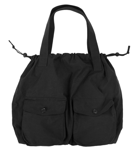 Y's Black Cotton Bag With Pockets