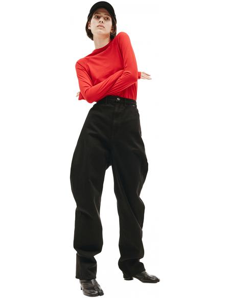 Balenciaga Black Cotton Jeans