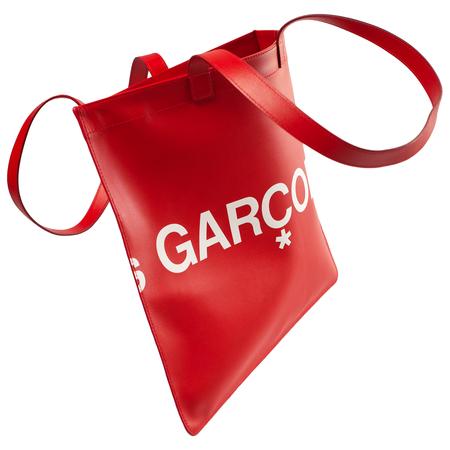 Comme des Garcons Wallets Red Leather Shopper Bag