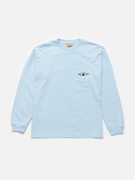 General Admission Aloha Plane Long Sleeve Tee - Washed Blue