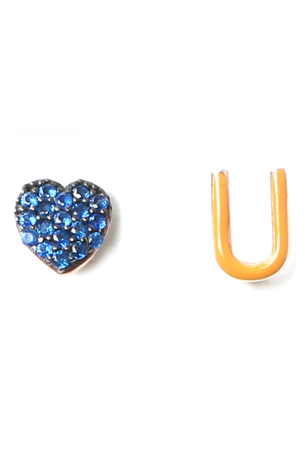 Aamaya by Priyanka Heart U Earrings