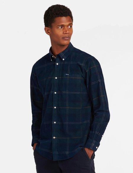 Barbour Blair Cord Tailored Shirt - Seaweed Tartan Blue