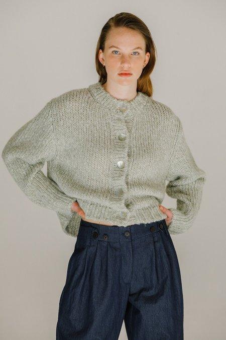 Mijeong Park Melange Knit Short Cardigan - Light Green