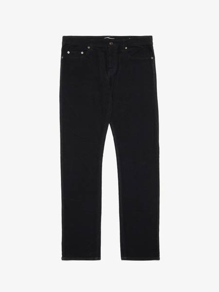 PRE-LOVED Saint Laurent Paris D02 Velvet Cotton Pants - black