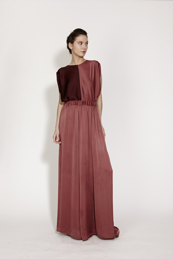 Wide leg maxi trousers with elastic waist