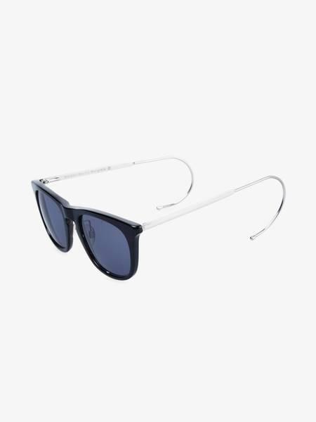 PRE-LOVED Maison Margiela Soft Sideframe Detailed Sunglasses - BLACK/SILVER
