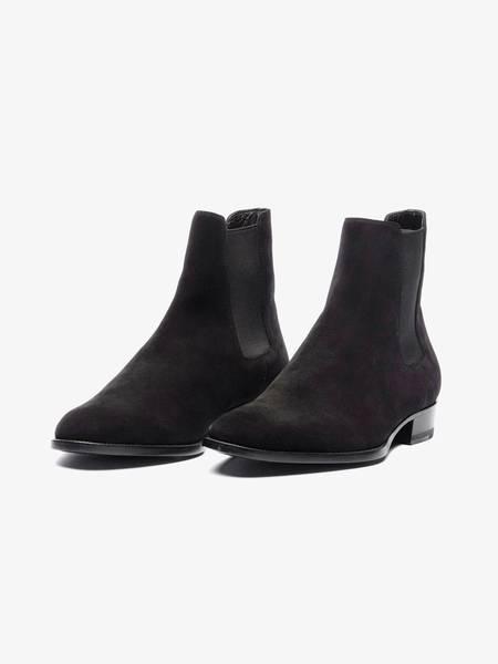 Saint Laurent Paris Crepe Sole Suede Chelsea Boots - Black