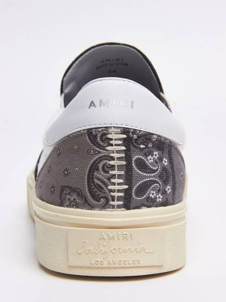 PRE-LOVED Amiri Paisley Printed Canvas Slipons shoes - black/white