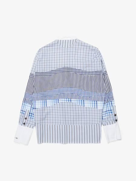 Greg Lauren X Paul & Shark 50/50 Striped Woven Shirt - Navy
