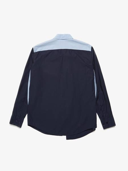 [Pre - Loved] Marni  Colorblock Cotton Shirt - Blue/Navy