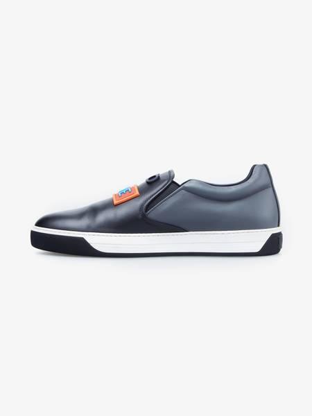 Fendi Love Slip-On Sneakers - Black/Dark Gray