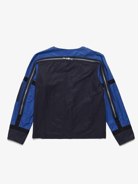 pre-loved Dries Van Noten Back Zipped Sweatshirt - blue/black