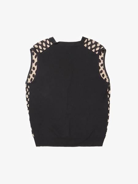 [Pre - Loved] Ann Demeulemeester Male  Polka Dot Cotton Vest - Black/Beige