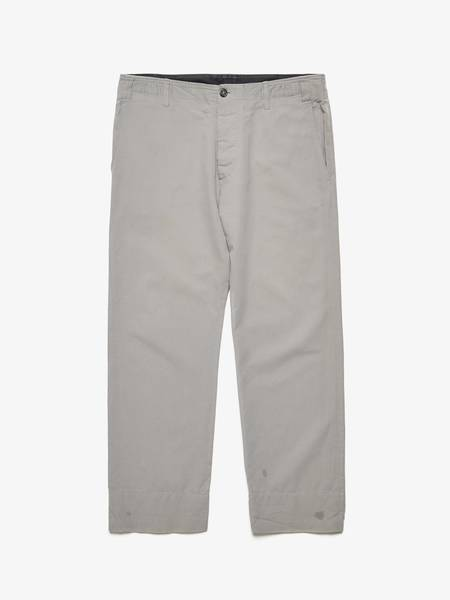 [Pre-Loved] Ann Demeulemeester M/F Letter lined edge casual pants-GREY