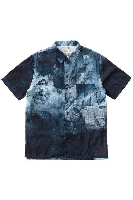 Nudie Jeans Brandon Smudge Shirt | Blk/Blue