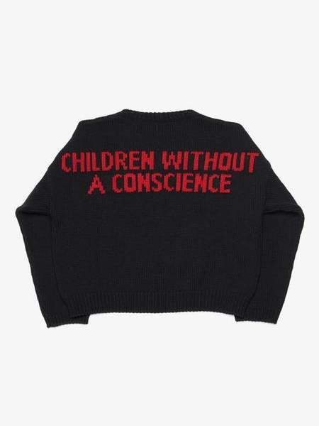 pre-loved Enfants Riches Deprimes High Risk Back Printed Sweater - black