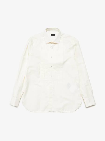 [Pre-Loved] Ermenegildo Zegna Male Collared Cufflinks Tuxedo Shirt